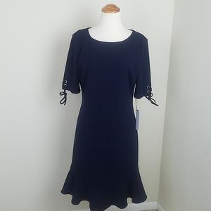 New Ivanka Trump navy short sleeve dress 8